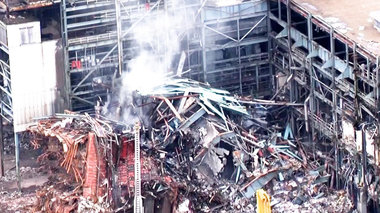 Brandweer bestrijdt vuur bij Amerikaanse kolencentrale
