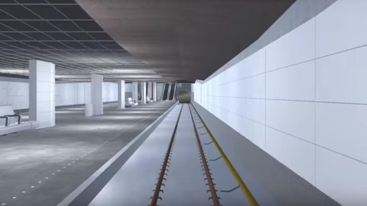 Simulator Noord-Zuidlijn bij Rokin