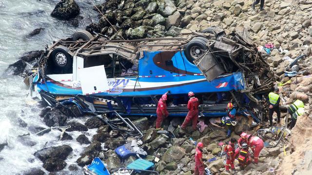 Zeker 36 doden door ernstig busongeluk in Peru