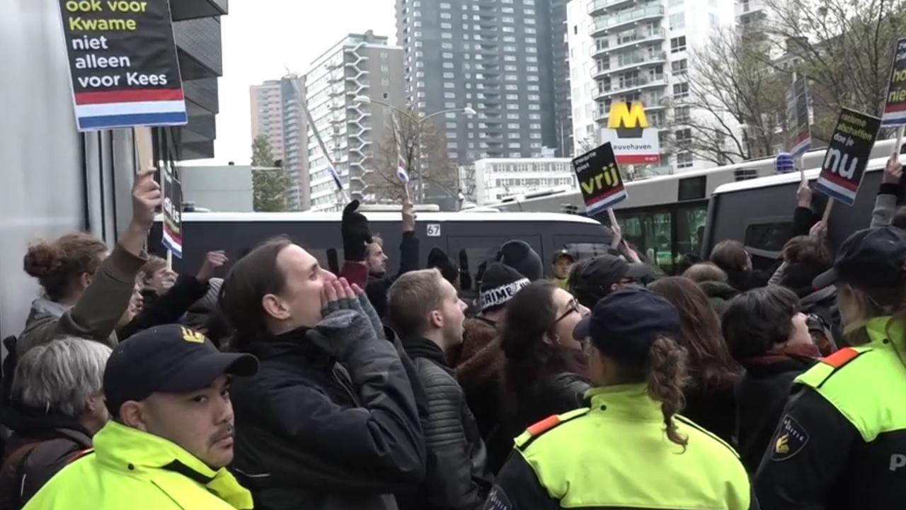 Aanhoudingen bij protest tegen Zwarte Piet in Rotterdam