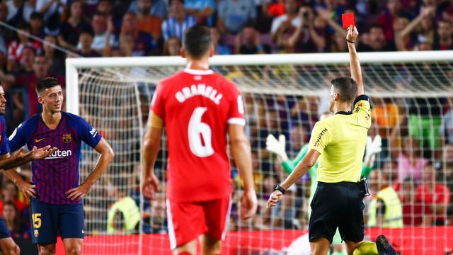 Barcelona verspeelt na vroege rode kaart tegen Girona eerste punten