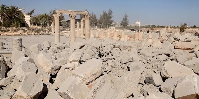 'Tempel in Syrische stad Palmyra toch verwoest door IS'