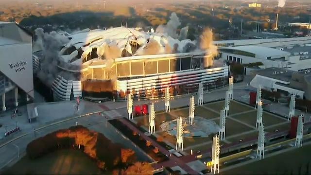 Historische Georgia Dome gesloopt