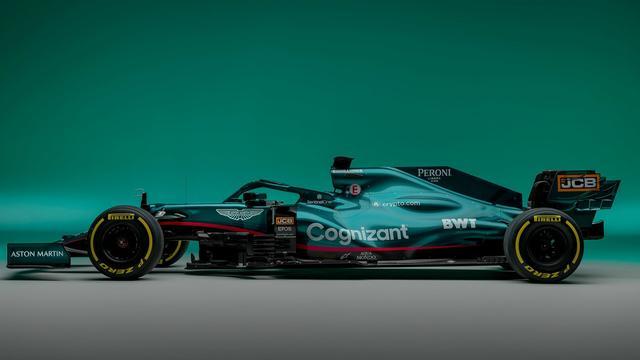 Het Britse team kiest met Sebastian Vettel en Lance Stroll voor een groene auto.