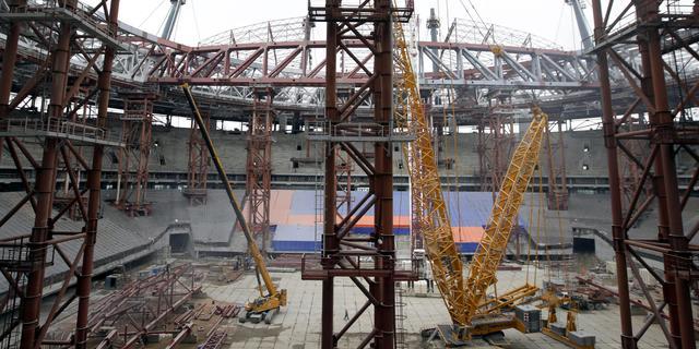 'Geen loon voor bouwers WK-stadion Rusland'