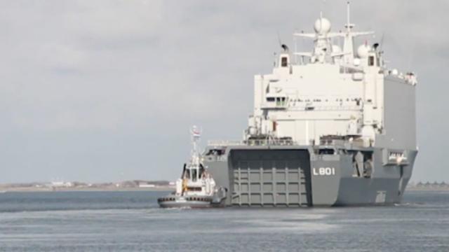 Nederlands schip richting NAVO-oefening voor trainen oorlogssituatie