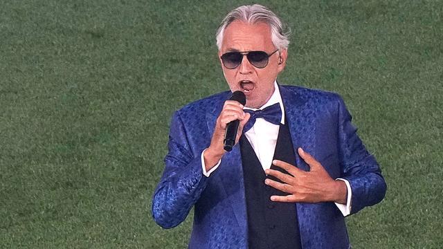 De hoofdrol was weggelegd voor de Italiaanse tenor Andrea Bocelli.