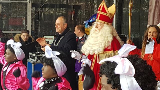 Sinterklaas aangekomen in Leiden