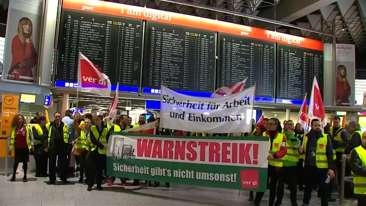 Honderden vluchten last van staking Duits veiligheidspersoneel