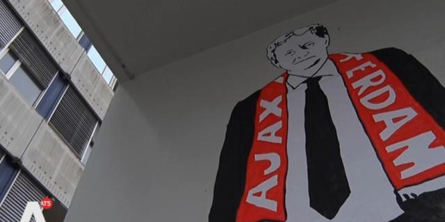 Graffiti-kunst voor zieke Van der Laan