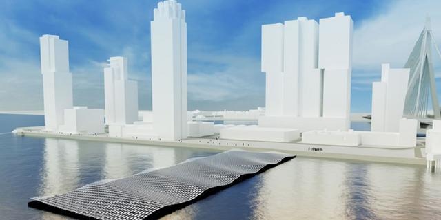Rotterdam krijgt drijvend zonnepark met lichteffecten