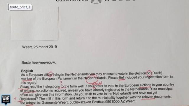 Gemeente Weert biedt excuses aan voor Engelse brief vol met fouten