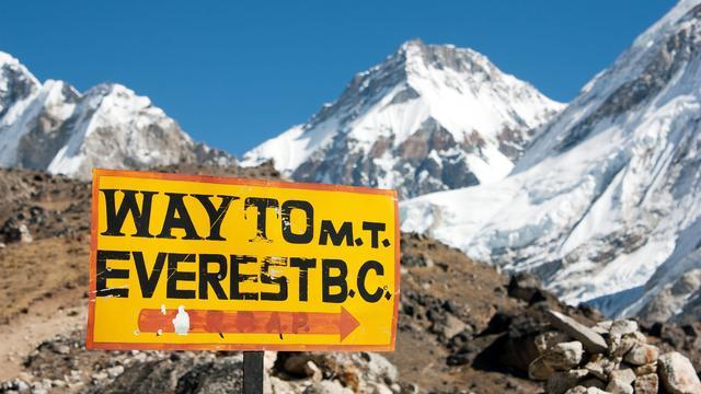 Top van de Mount Everest wordt dit jaar door niemand gehaald