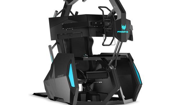 Acer brengt nieuwe gamingstoel met schermhouder uit voor 10.000 euro