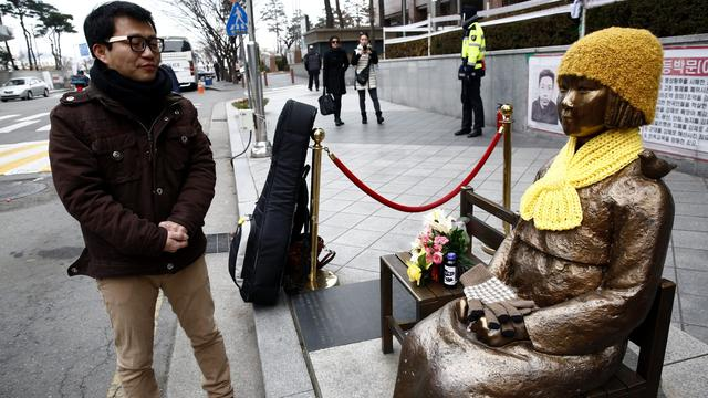 Japan betaalt Koreaanse troostmeisjes nog niet om standbeeld