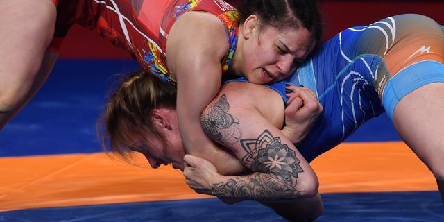 Nederlandse worstelaarster Blaszka grijpt op EK naast het brons