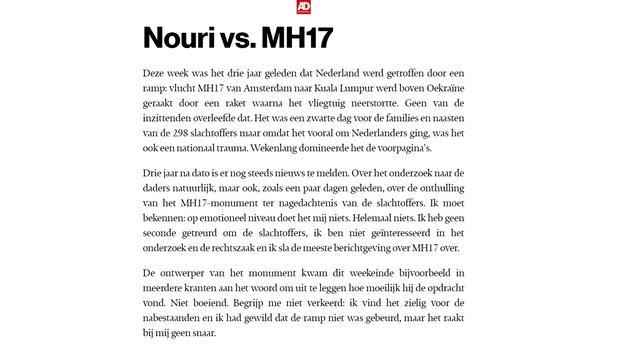 'MH17-columniste' Hanina Ajarai vertrekt bij AD
