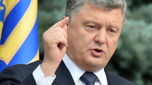 Porosjenko acht dat kans op oorlog tussen Oekraïne en Rusland is toegenomen