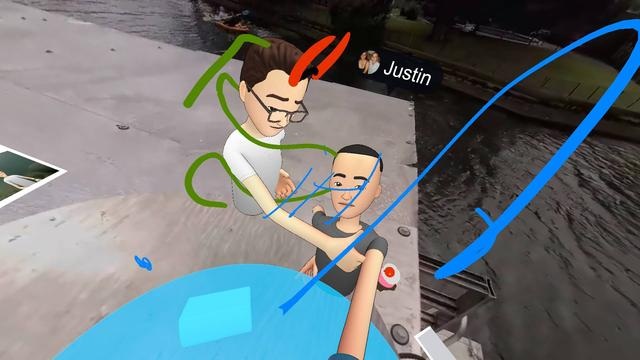 Selfie in Facebook Spaces
