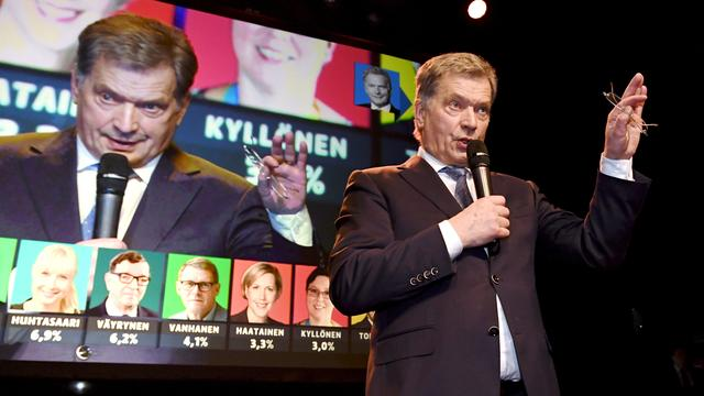 Sauli Niinistö opnieuw verkozen tot president van Finland