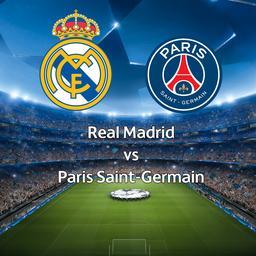 Bekijk de livestream van Real Madrid-Paris Saint-Germain