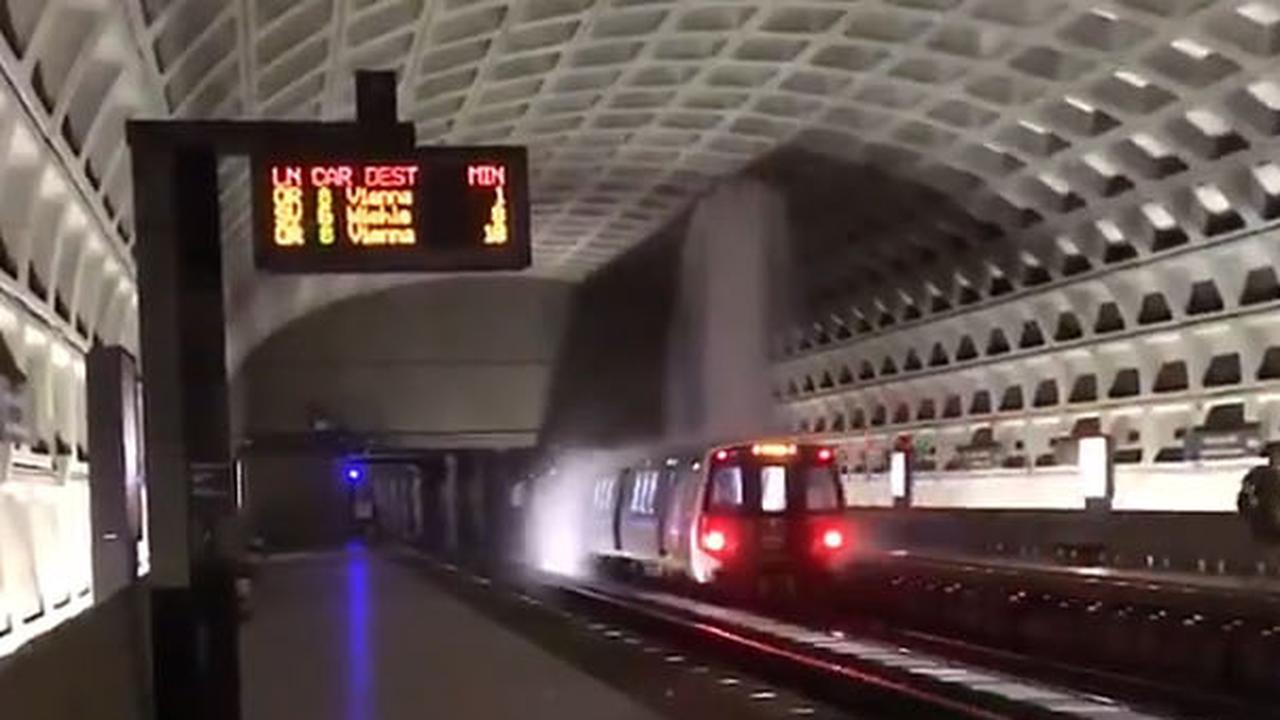 Hevige regenbuien zorgen voor lek in metrostation Washington