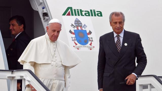 Paus aangekomen in Havana voor bezoek Cuba en VS