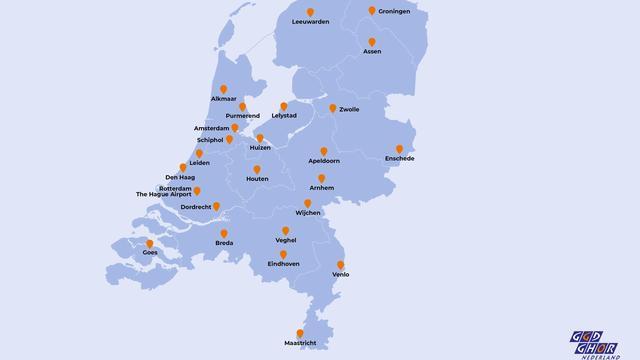 Alle 25 locaties waar zorgpersoneel kan worden ingeënt