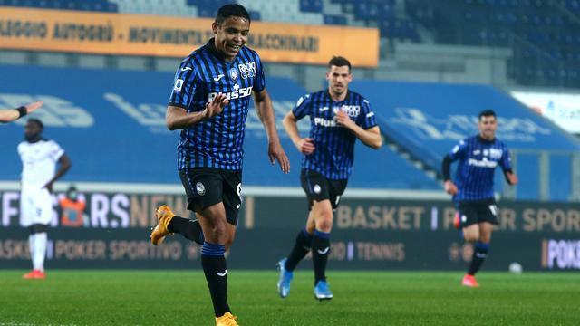 Luis Muriel maakte de 2-0 voor Atalanta.