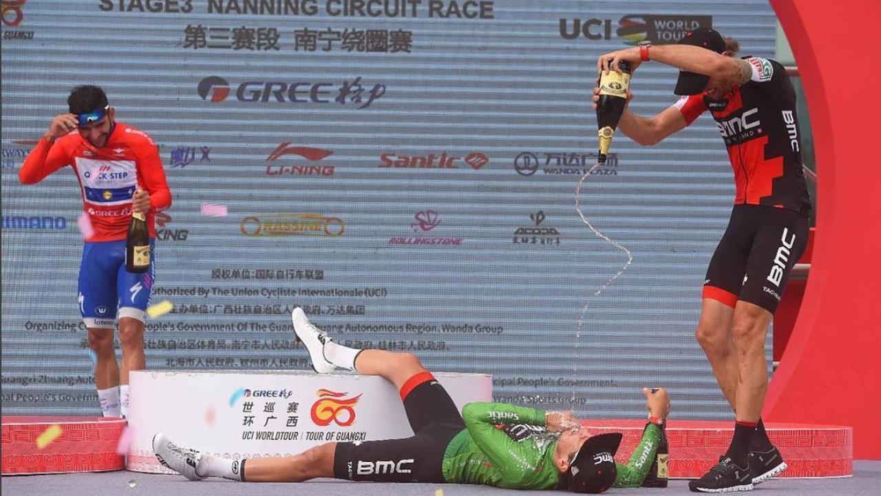 Wielrenner Silvan Dillier valt van podium bij ronde van Guangxi