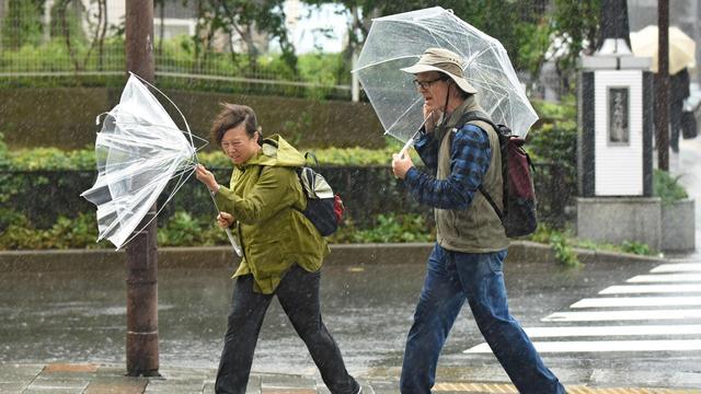 Tientallen gewonden en veel overlast door tyfoon Trami in Japan