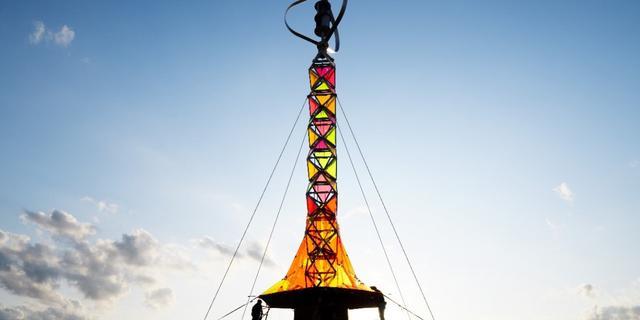 Duurzame toren op Vismarkt tijdens Eurosonic Noorderslag