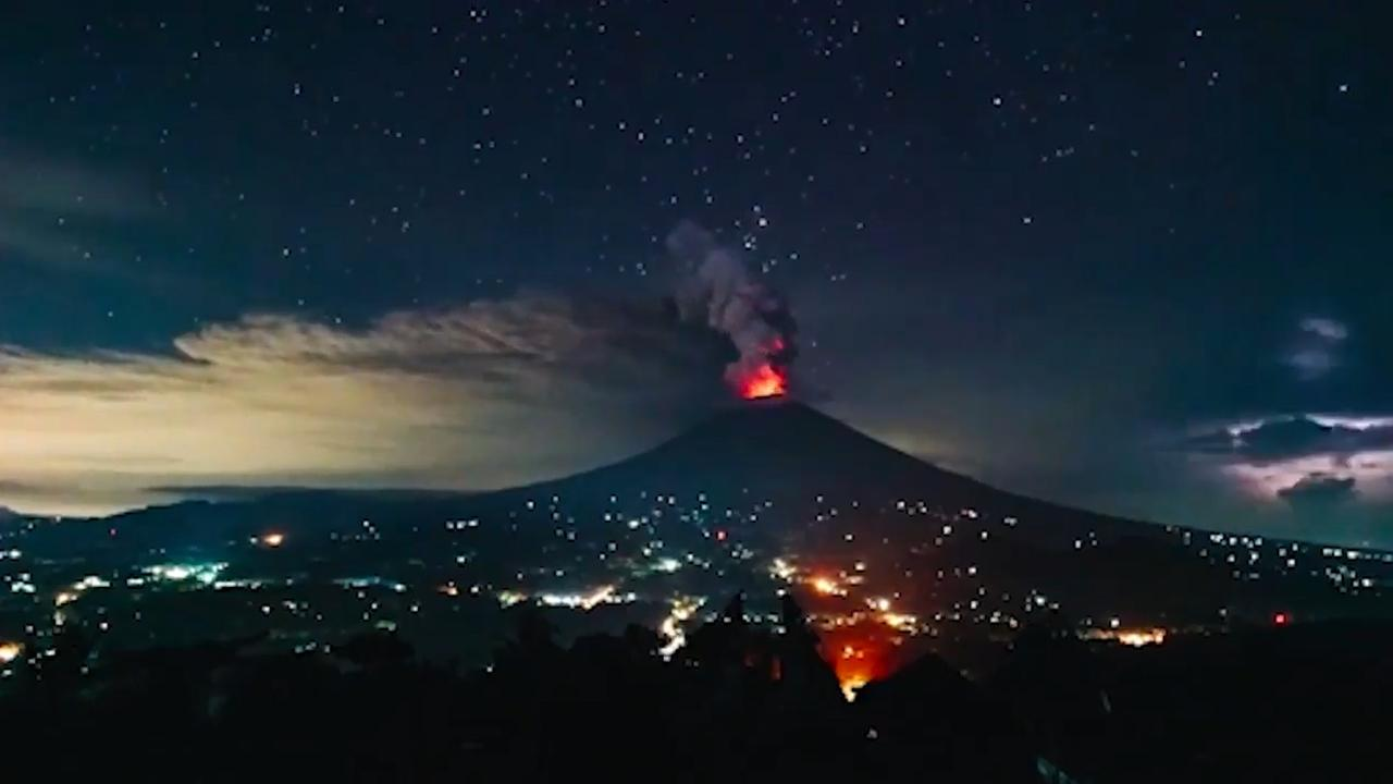 Timelapse toont vulkaan Bali in aanloop naar nieuwe uitbarsting