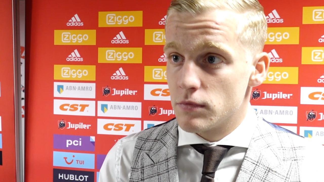 Van de Beek: 'Niet zeuren bij 3-0-winst in Klassieker'