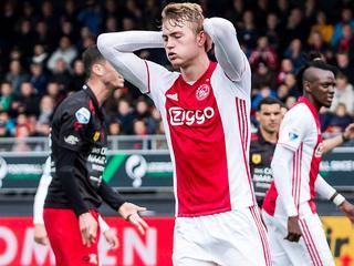 Amsterdammers spelen gelijk en zien gat met Feyenoord oplopen tot zes punten