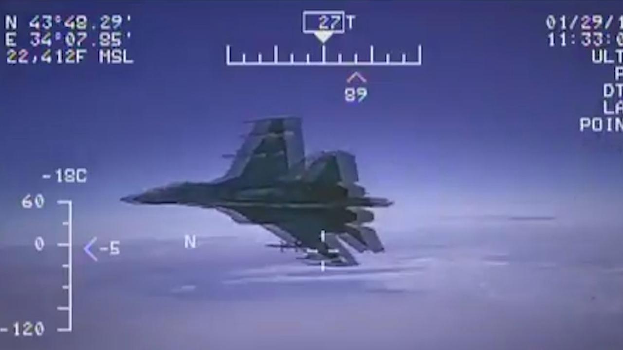 Russische straaljager onderschept militair vliegtuig VS