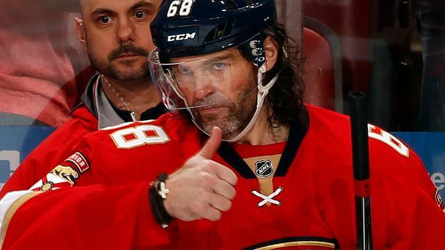 Jaromir Jagr (44) op tweede plaats puntenlijst aller tijden in NHL