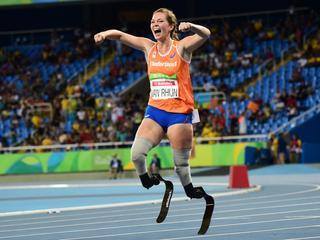 Atlete verbetert paralympisch record