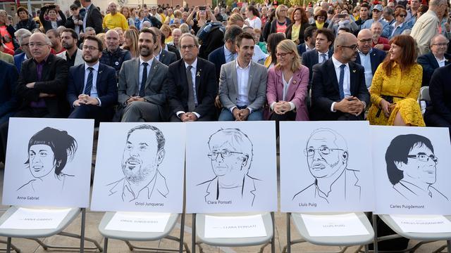 Catalaanse separatisten protesteren jaar na onafhankelijkheidsstemming