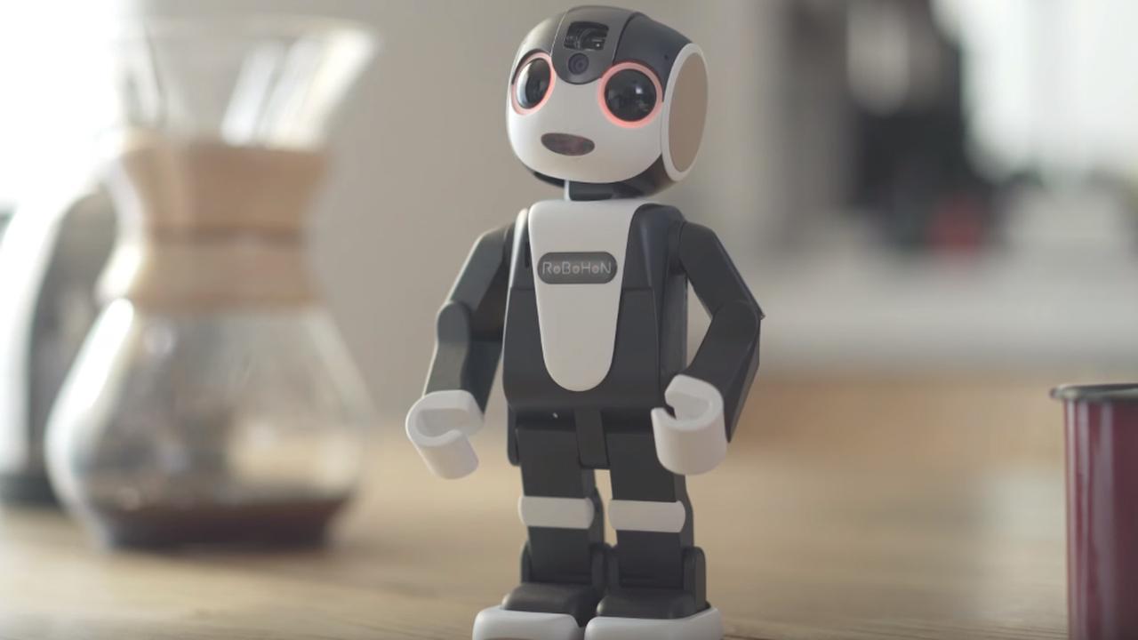 Smartphonerobot kan praten en video's projecteren