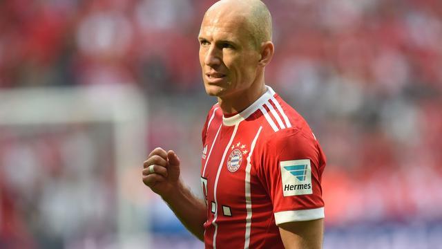 Robben fit voor bekerwedstrijd Bayern München tegen Chemnitzer