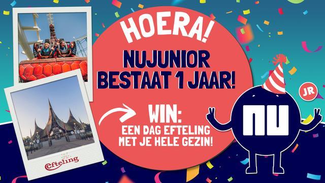 Feest, NUjunior bestaat 1 jaar en trakteert: kaartjes voor de Efteling