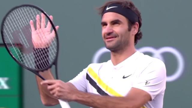 Federer verslaat Chardy en bereikt kwartfinales Indian Wells