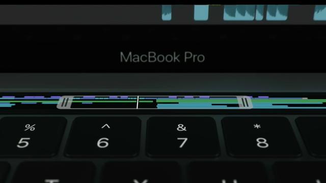 Apple toont MacBook Pro met aanraakscherm boven toetsenbord