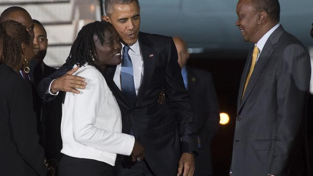 Obama aangekomen in het geboorteland van zijn vader