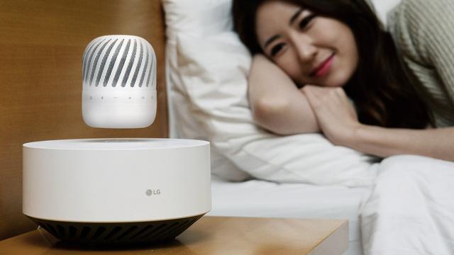 LG toont zwevende Bluetooth-luidspreker