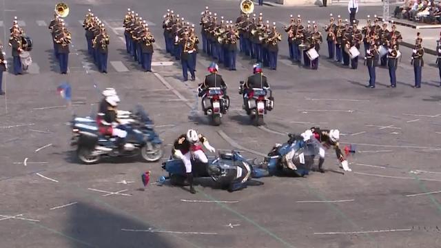 Valpartij en verkeerde vlag bij Quatorze Juillet-parade in Parijs