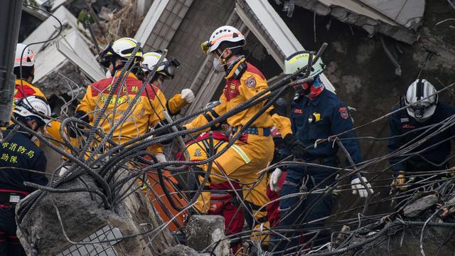 Dodental aardbeving Taiwan stijgt naar 108