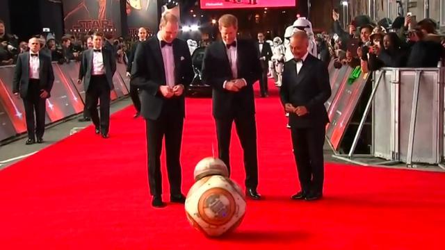 Britse prinsen aanwezig bij Star Wars-première in Londen