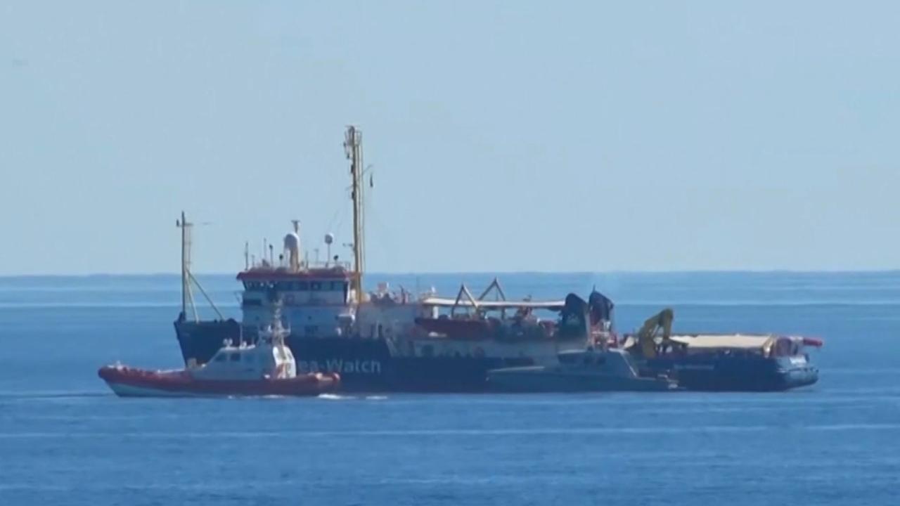 Italië houdt Sea-Watch 3 tegen voor Lampedusa